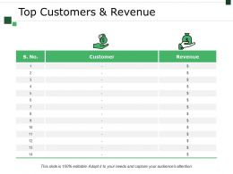 Top Customers And Revenue Powerpoint Slide Themes