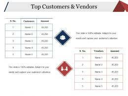 Top Customers And Vendors Powerpoint Slides Templates