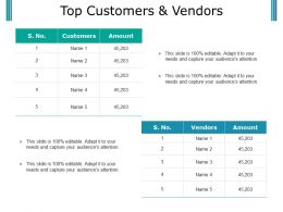 Top Customers And Vendors Ppt Example File