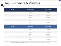 Top Customers And Vendors Ppt Icon