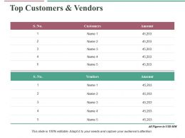 Top Customers And Vendors Ppt Infographic Template Grid