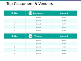 Top Customers And Vendors Ppt Infographics Layout