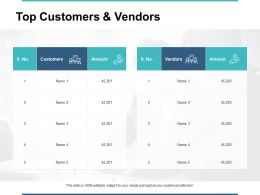 Top Customers And Vendors Ppt Powerpoint Presentation Gallery Rules