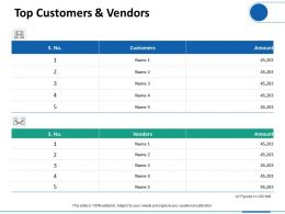 Top Customers And Vendors Ppt Professional Graphics Download