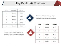 Top Debtors And Creditors Powerpoint Slides Design