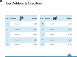 Top Debtors And Creditors Ppt Visual Aids Backgrounds