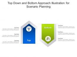 Top Down And Bottom Approach Illustration For Scenario Planning Infographic Template