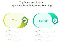 Top Down And Bottom Approach Slide For Demand Planning Infographic Template