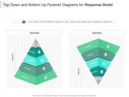 Top Down And Bottom Up Pyramid Diagrams For Response Model Infographic Template