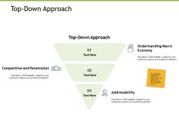 Top Down Approach Competitive And Penetration K178 Powerpoint Presentation Outline