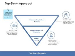 Top Down Approach Economy Ppt Powerpoint Presentation Deck
