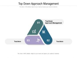 Top Down Approach Management Ppt Powerpoint Presentation Infographics Graphics Cpb