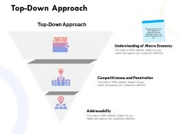Top Down Approach Penetration Ppt Powerpoint Presentation Infographic Information
