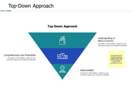 Top Down Approach Ppt Powerpoint Presentation Gallery Clipart