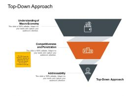 Top Down Approach Ppt Powerpoint Presentation Ideas Master Slide