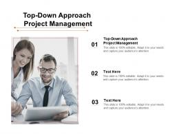 Top Down Approach Project Management Ppt Powerpoint Presentation Icon Graphics Download Cpb