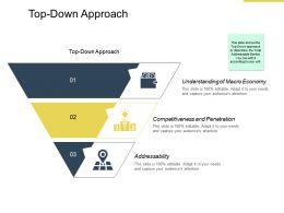 Top Down Approach Understanding Ppt Powerpoint Presentation Template Files