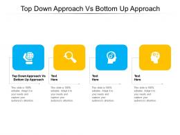Top Down Approach Vs Bottom Up Approach Ppt Powerpoint Presentation Slides Show Cpb