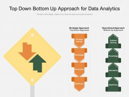Top Down Bottom Up Approach For Data Analytics