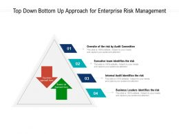 Top Down Bottom Up Approach For Enterprise Risk Management