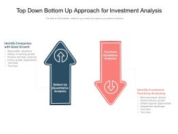 Top Down Bottom Up Approach For Investment Analysis