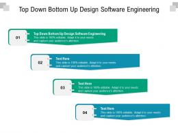 Top Down Bottom Up Design Software Engineering Ppt Powerpoint Presentation Ideas Visual Aids Cpb