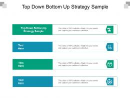 Top Down Bottom Up Strategy Sample Ppt Powerpoint Presentation Ideas Outline Cpb