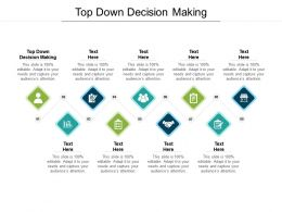 Top Down Decision Making Ppt Powerpoint Presentation Icon Diagrams Cpb