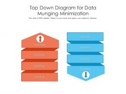 Top Down Diagram For Data Munging Minimization Infographic Template