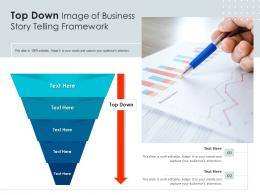 Top Down Image Of Business Story Telling Framework Infographic Template