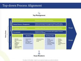 Top Down Process Alignment Greeters Powerpoint Presentation Clipart Images