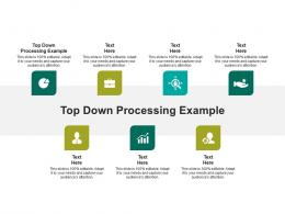 Top Down Processing Example Ppt Powerpoint Presentation Infographics Guidelines Cpb