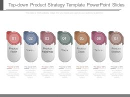 Top Down Product Strategy Template Powerpoint Slides