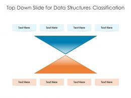 Top Down Slide For Data Structures Classification Infographic Template