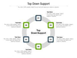 Top Down Support Ppt Powerpoint Presentation Model Visual Aids Cpb