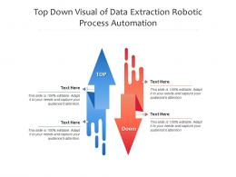 Top Down Visual Of Data Extraction Robotic Process Automation Infographic Template