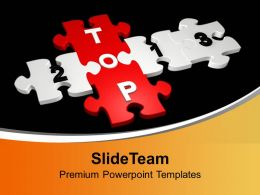 Top Formed By Puzzles Solution PowerPoint Templates PPT Backgrounds For Slides 0113