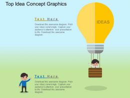 Top Idea Concept Graphics Flat Powerpoint Design