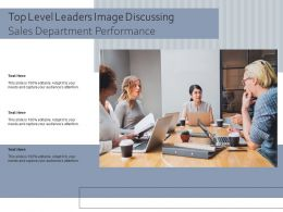Top Level Leaders Image Discussing Sales Department Performance
