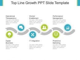 Top Line Growth Ppt Slide Template