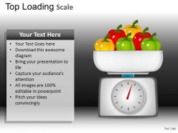 Top Loading Scale Powerpoint Presentation Slides DB
