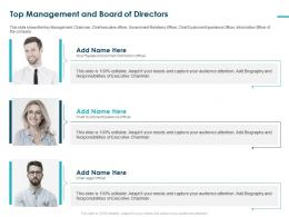 Top Management And Board Of Directors Customer Customer Team Ppt Grid