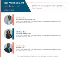 Top Management And Board Of Directors Officer Ppt Powerpoint Presentation Icon Professional
