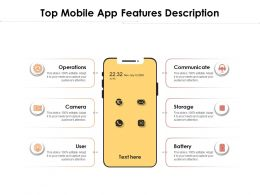 Top Mobile App Features Description