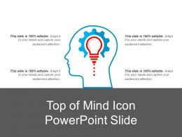 Top Of Mind Icon Powerpoint Slide