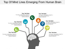 Top Of Mind Lines Emerging From Human Brain