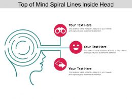 Top Of Mind Spiral Lines Inside Head