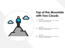 Top Of The Mountain With Two Clouds