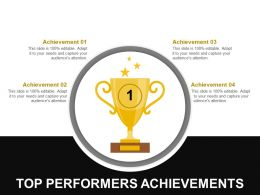Top Performers Achievements Ppt Background