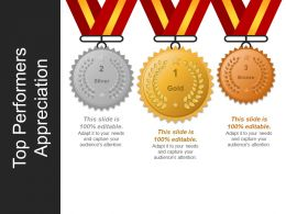 Top Performers Appreciation Ppt Design